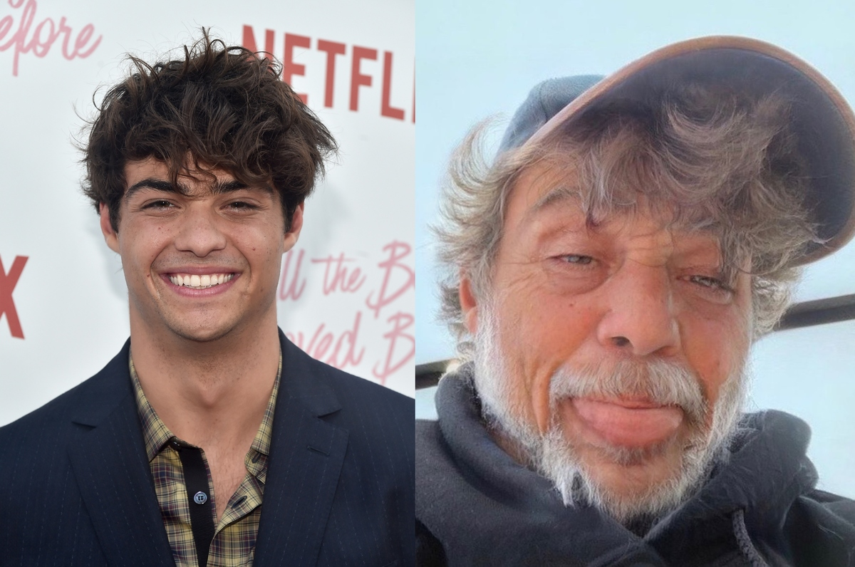 noah centineo with the aging filter