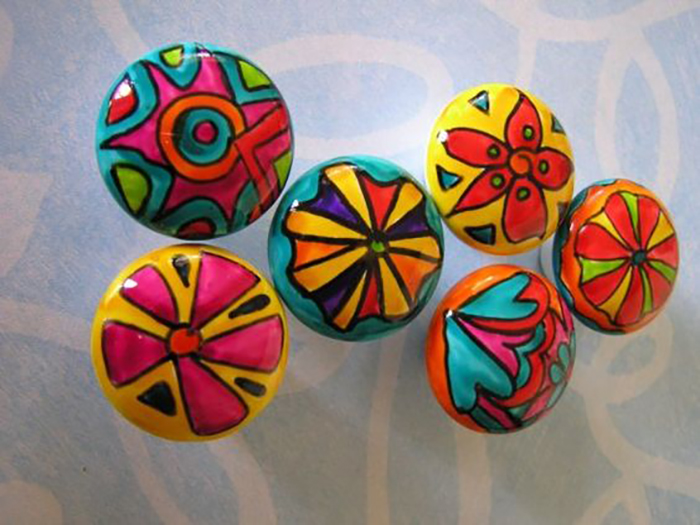 painted porcelain knobs on Etsy