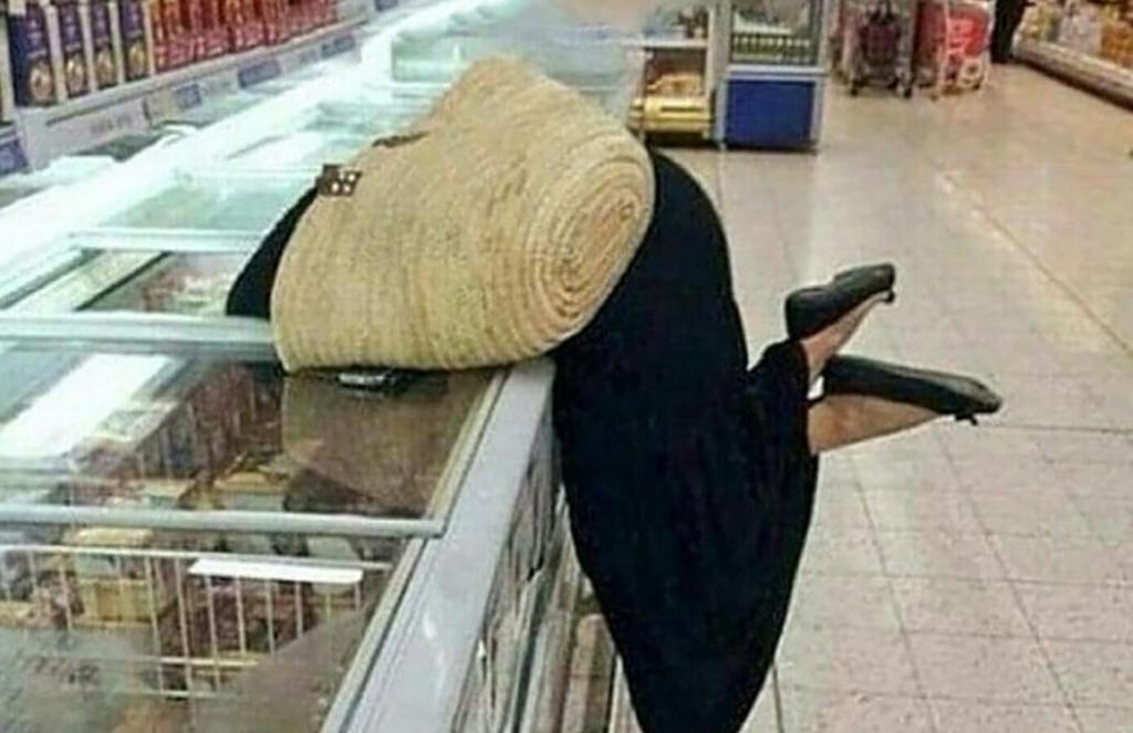 Girl in freezer
