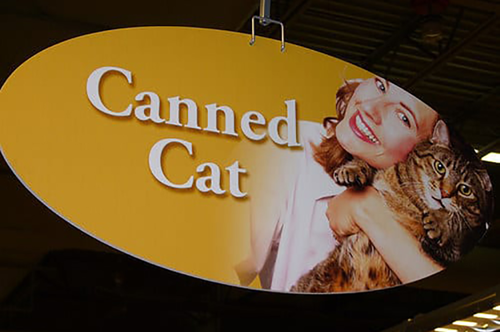 Sign that says canned cat