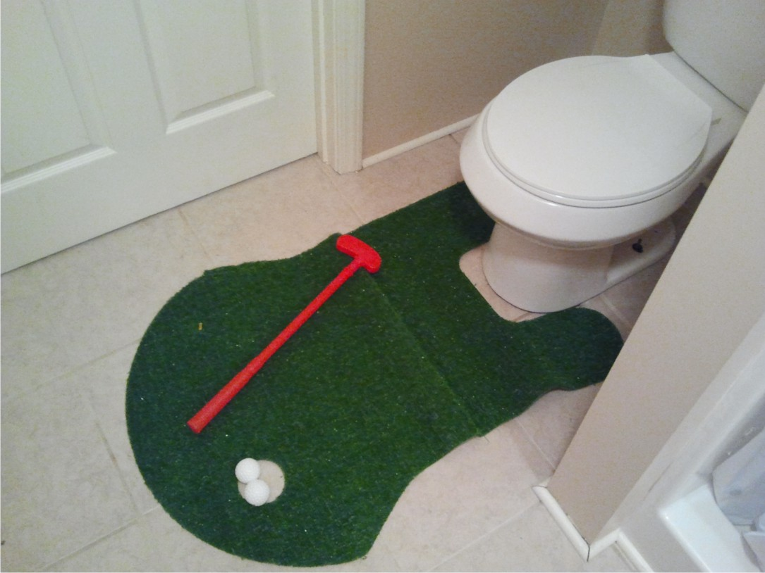 the potty putter from a thrift shop