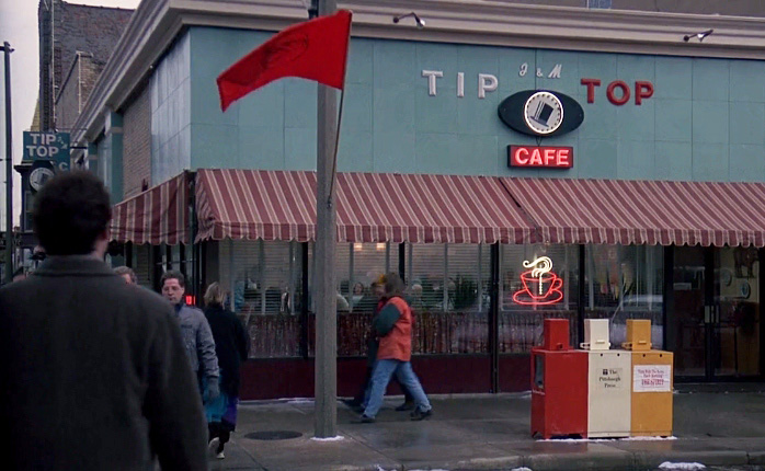 Tip Top Cafe was a fictional cafe made for Groundhog Day the movie