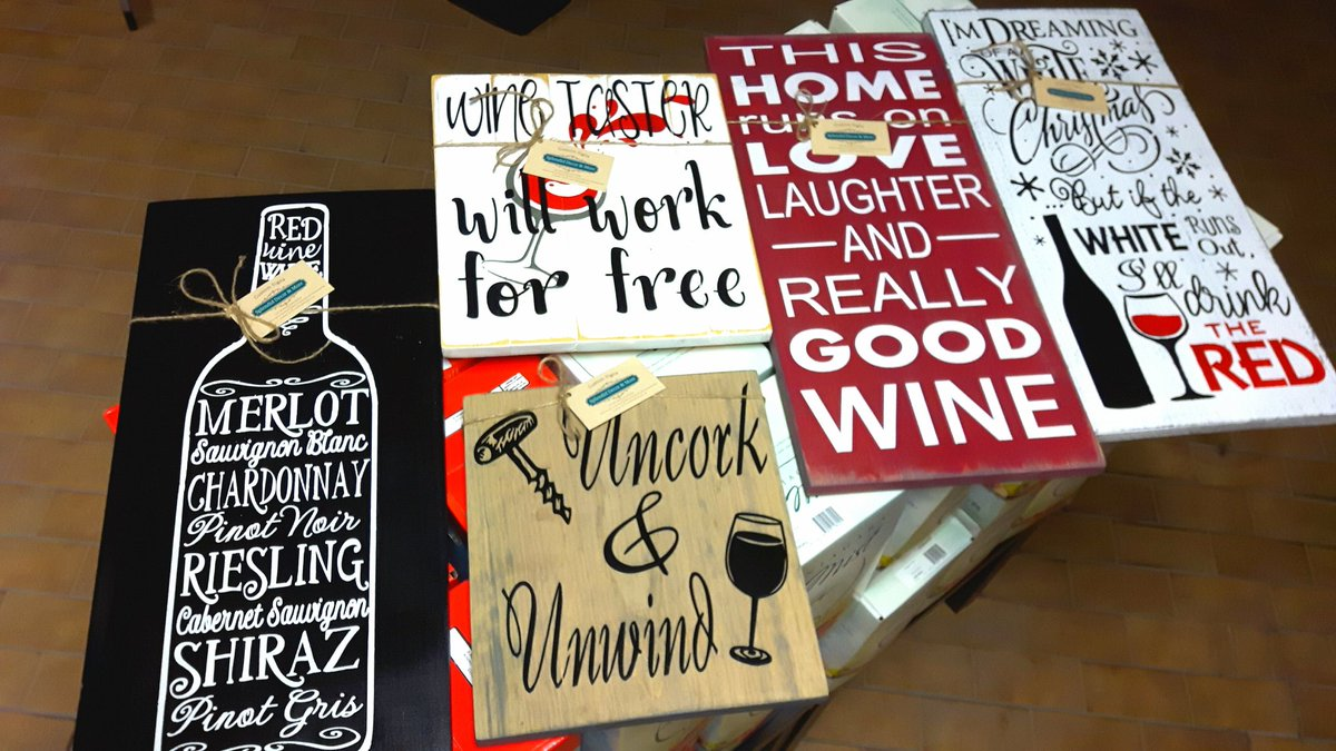 wine signs by Stacey Roeder
