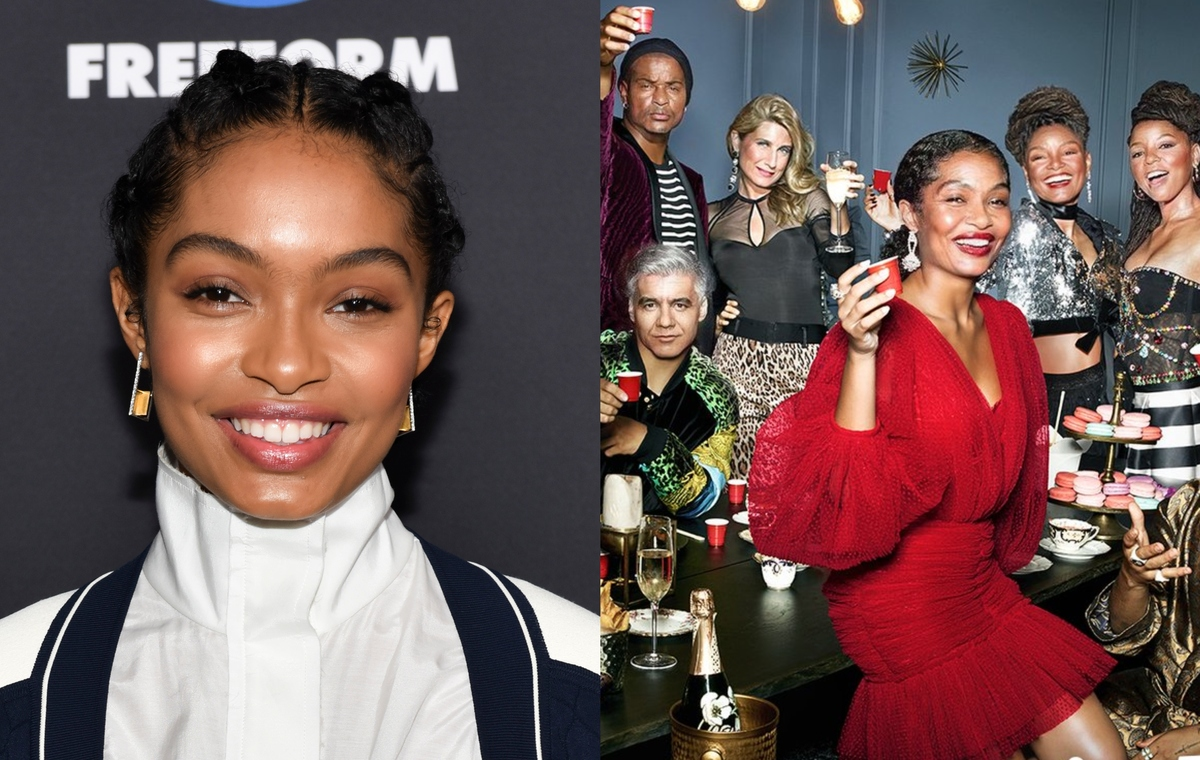 yara shahidi with the aging filter