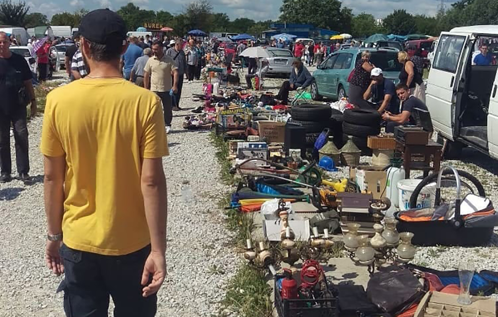 People at the flea market