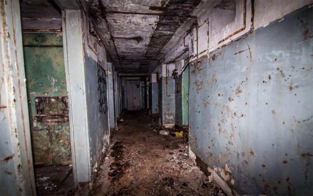 Interior of abandoned bunker