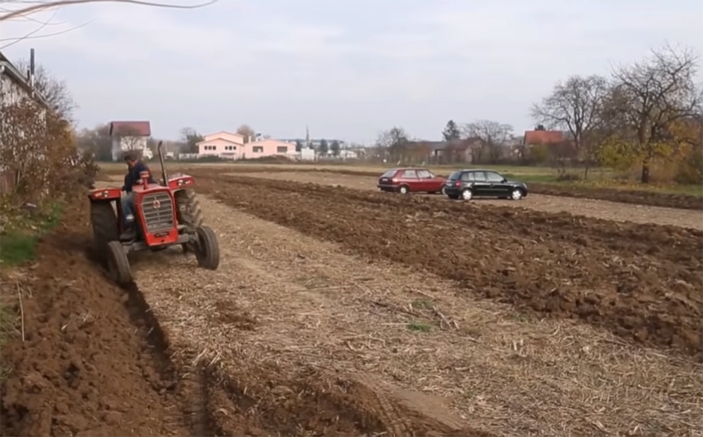 Plowing the field