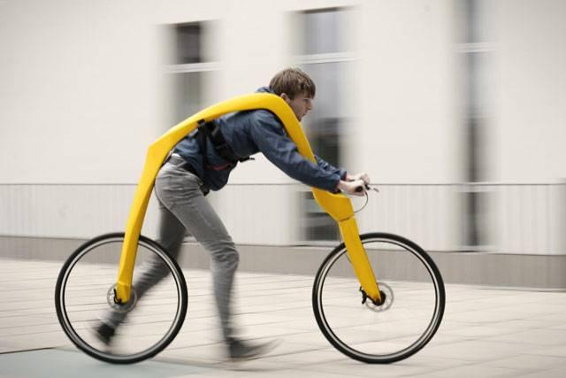 Man test rides a FLIZ pedal-less bike