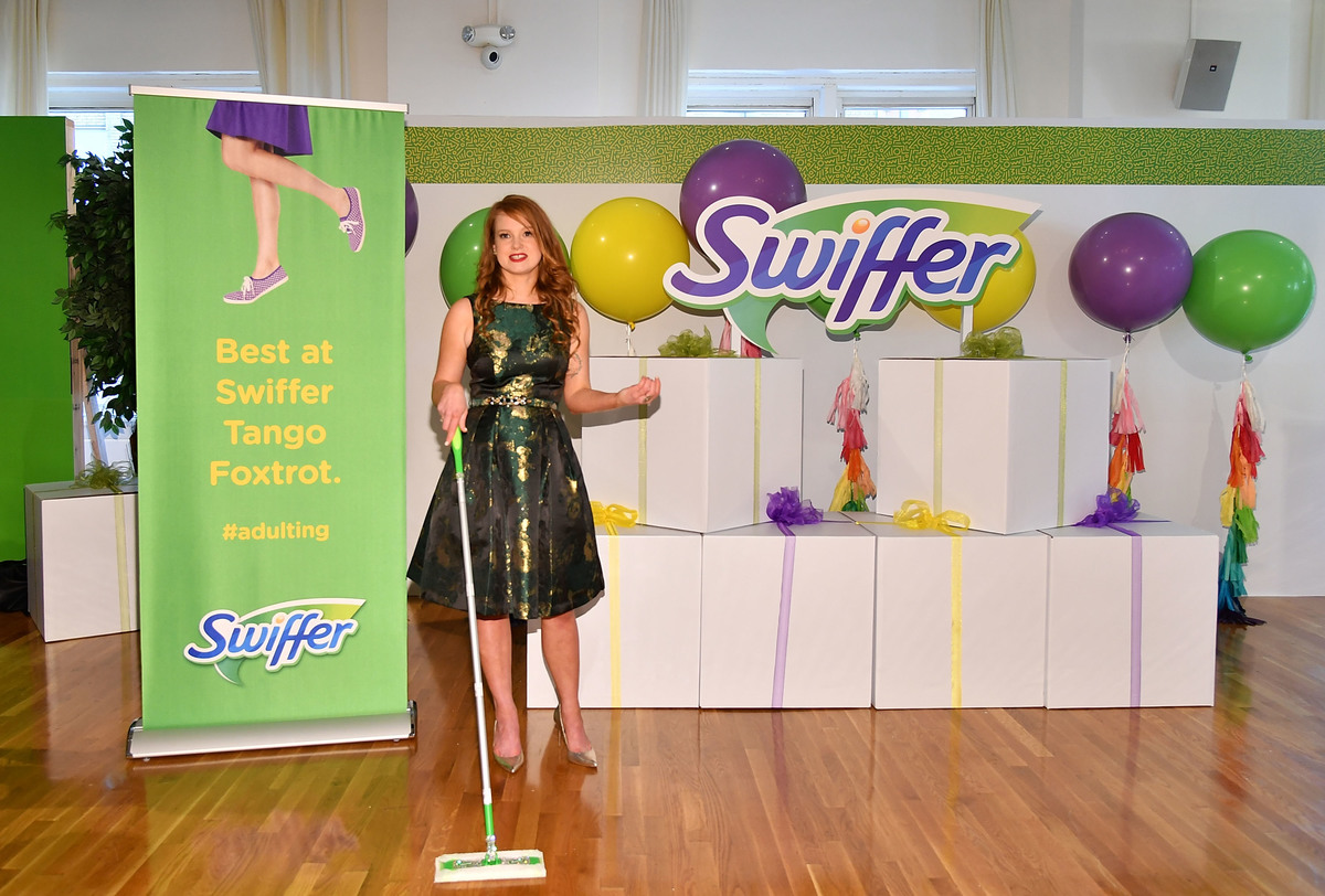 Author Kelly Williams Brown celebrates Swiffer's 18th birthday