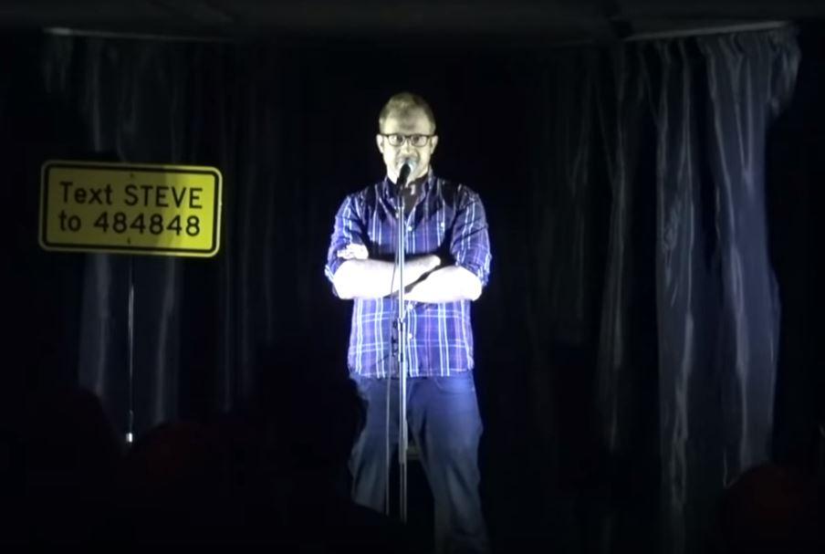 Steve Hofstetter on stage shutting down a weird request