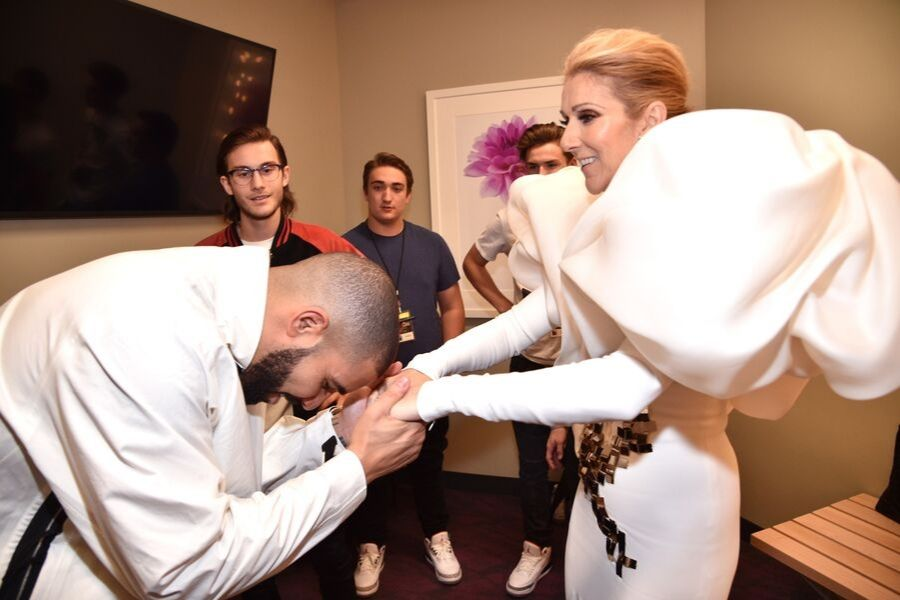 Drake and Celine Dion attend the 2017 Billboard Music Awards