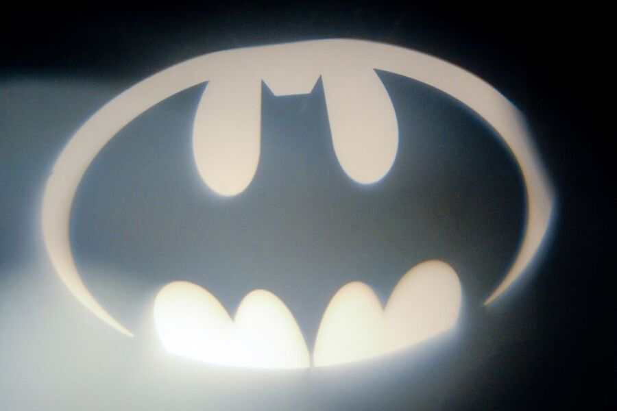 The Batman Signal illuminated