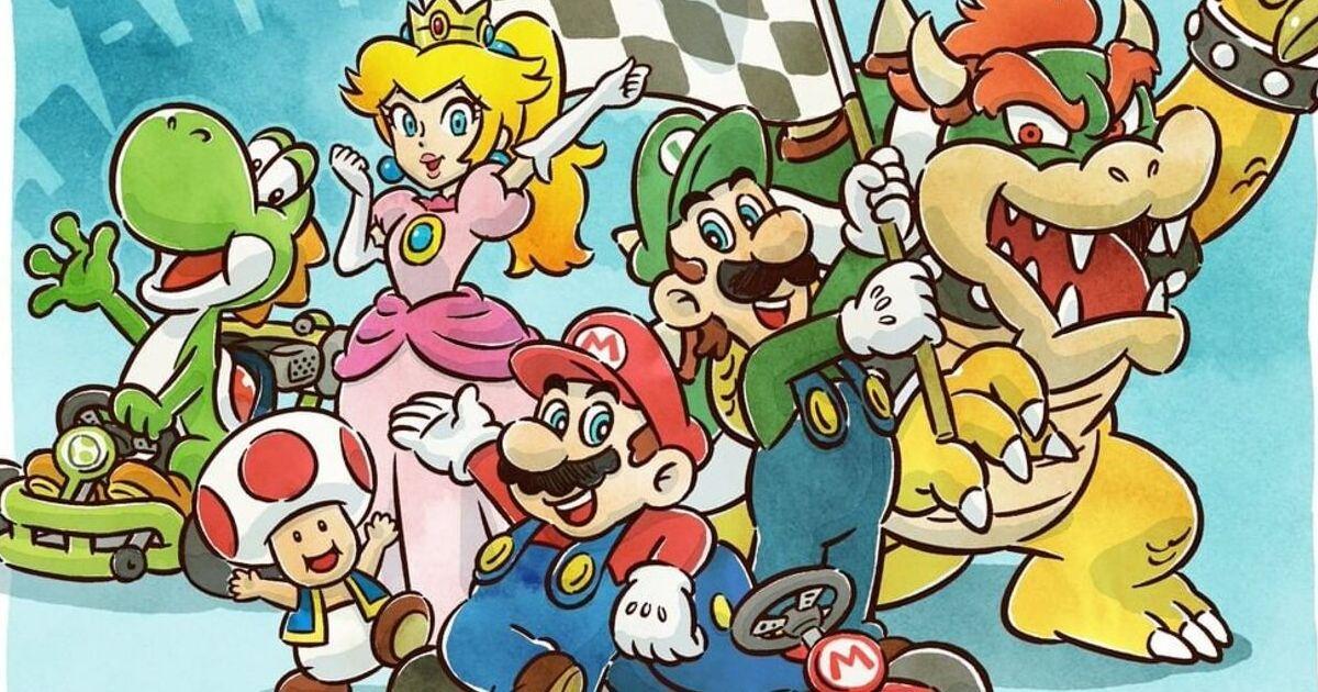 Mario Kart characters from Mario Kart Tour