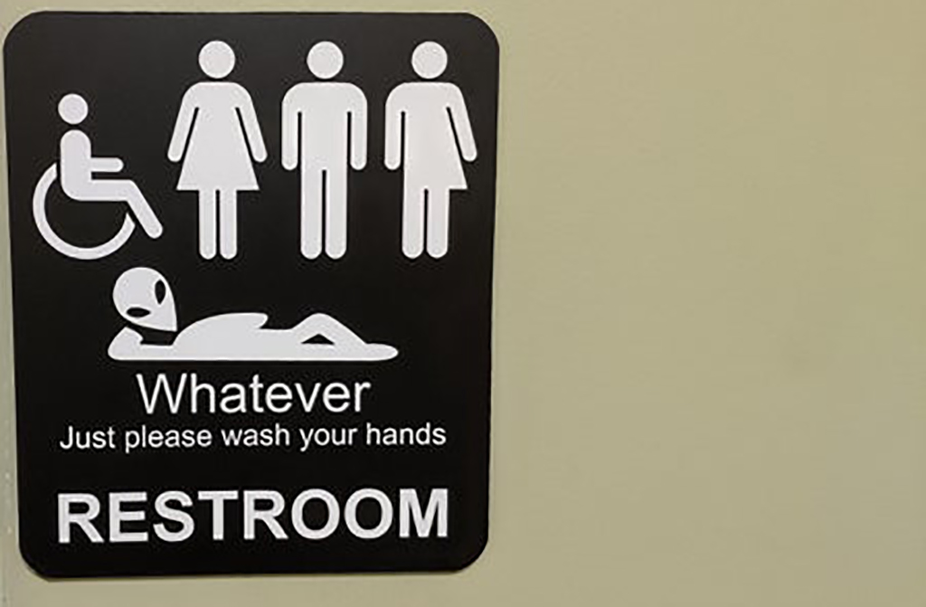 Bathroom for everyone, even aliens