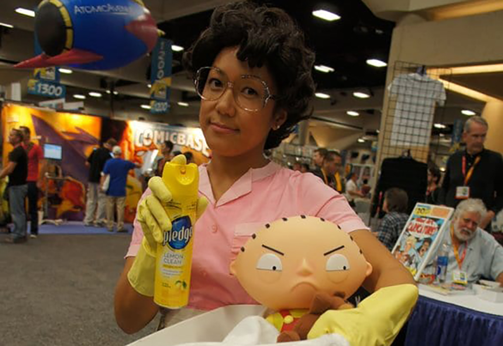 Girl dressed up as Consuela from Family Guy