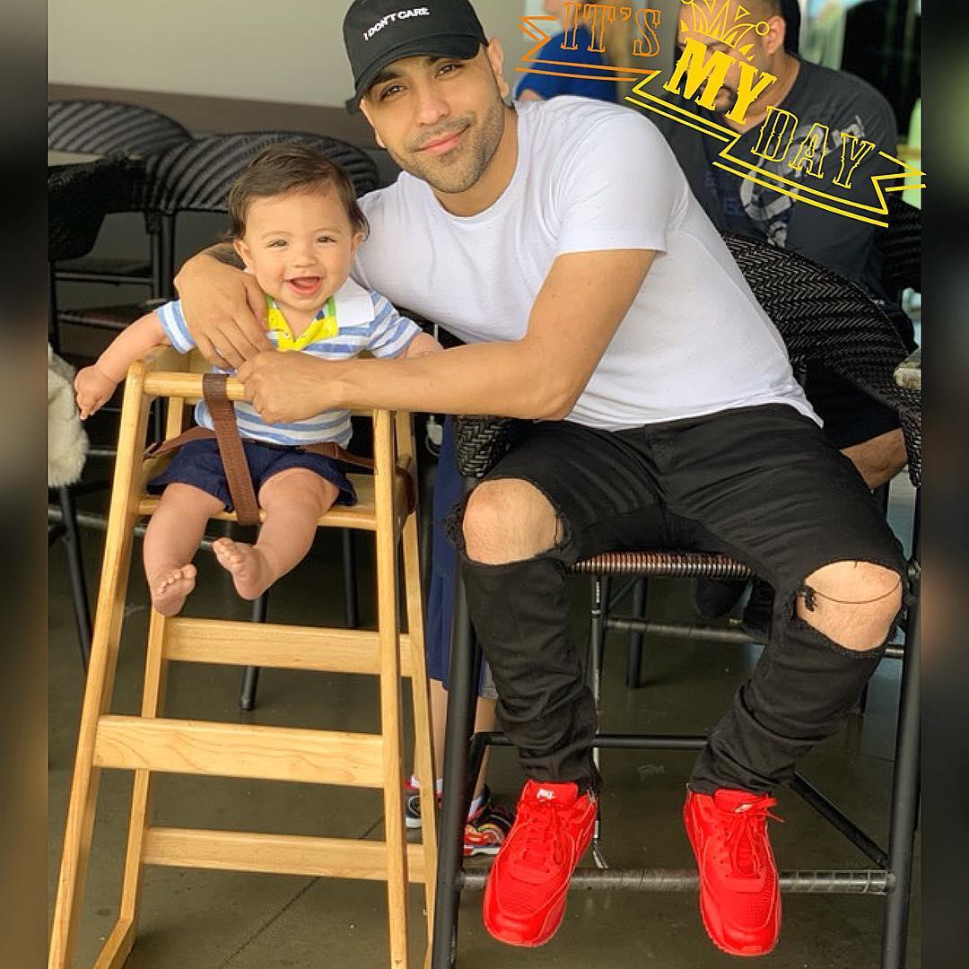 fabila with his child
