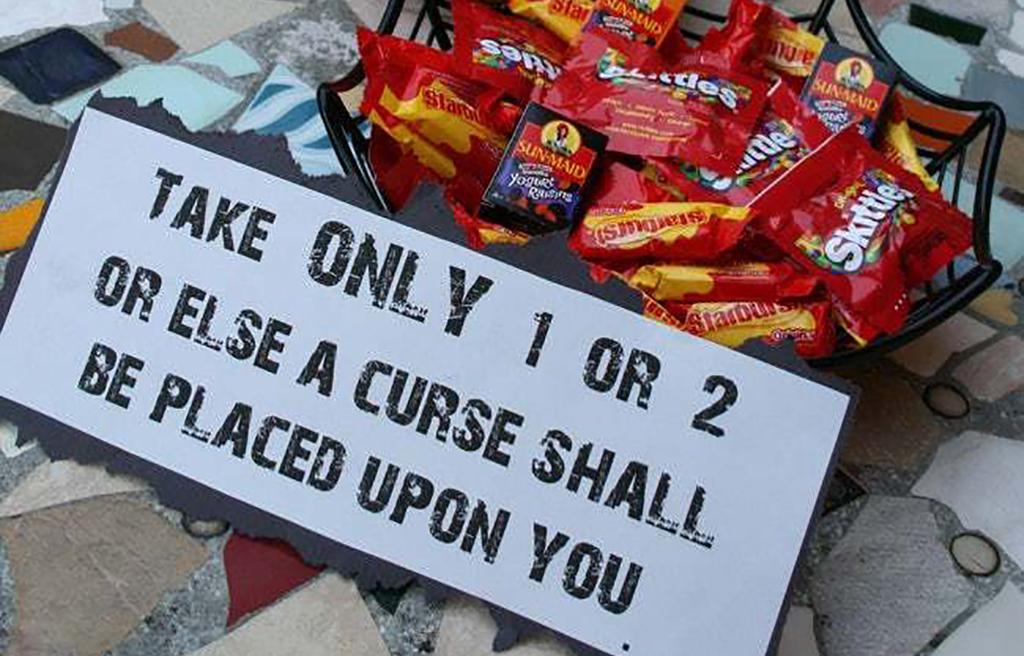 Cursed sign