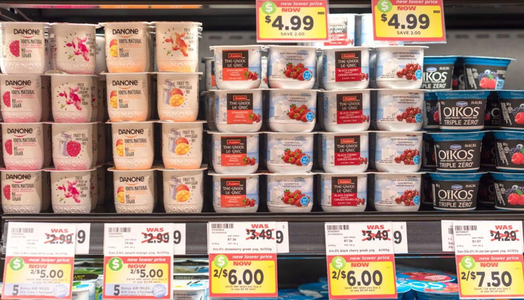Yogurt on sale