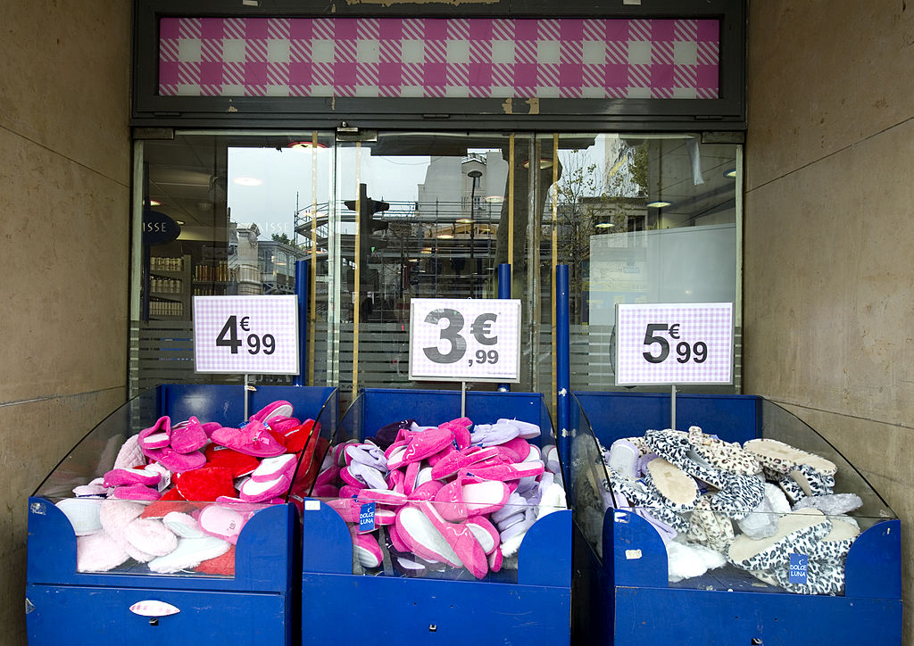 Boxes of slippers on sale