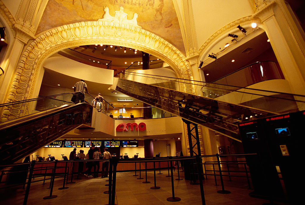 Interior of an AMC theater