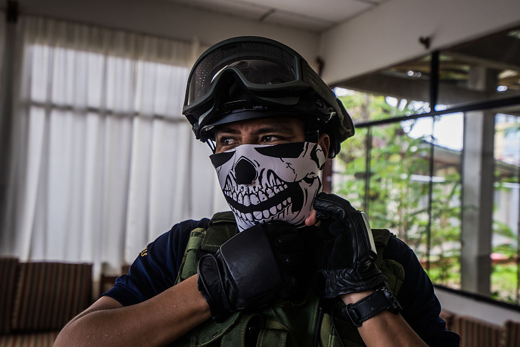 Man in tactical gear
