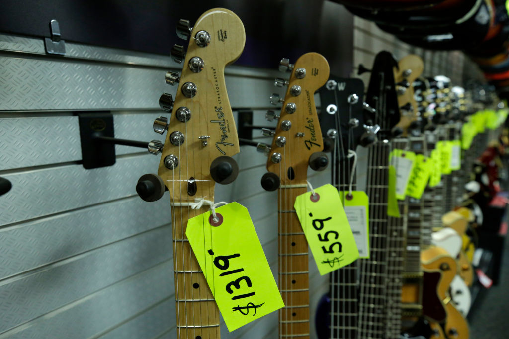Guitars with price tags