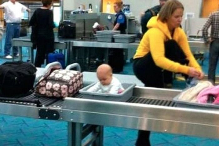 When You Have To Make Sure Your Baby Isn't Smuggling Things