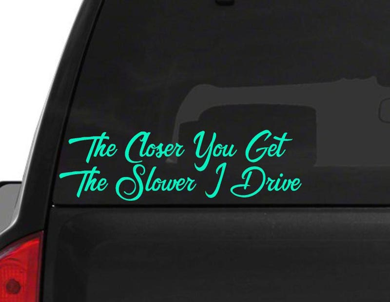 A bumper sticker warns