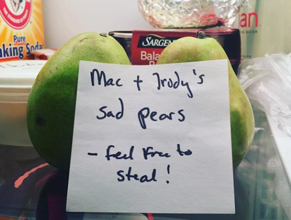 Sad Fruit In A Sad Office Fridge