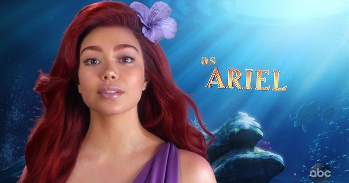 Auli'i Cravalho dressed as Ariel in the teaser video