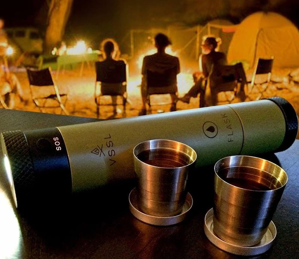 This VSSL Flask Light Is Just The Thing For A Quiet Evening Around A Camp Fire