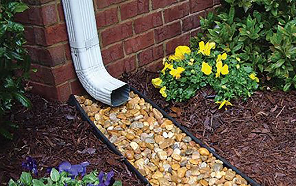 Gutter extension and stones