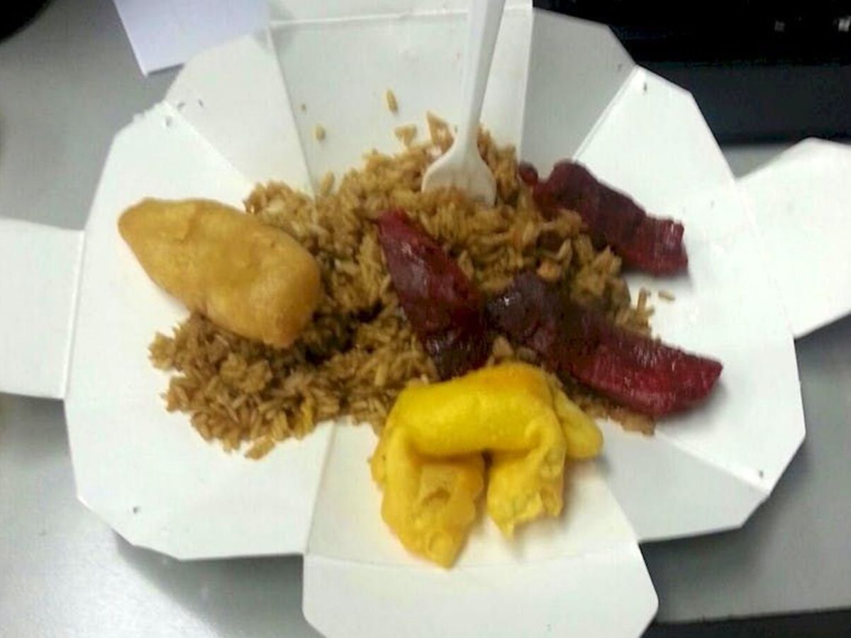 chinese take out plate different