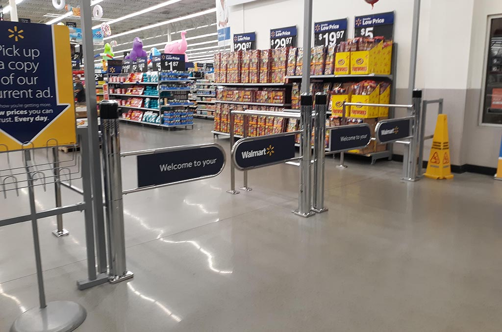 WalMart anti-theft gates