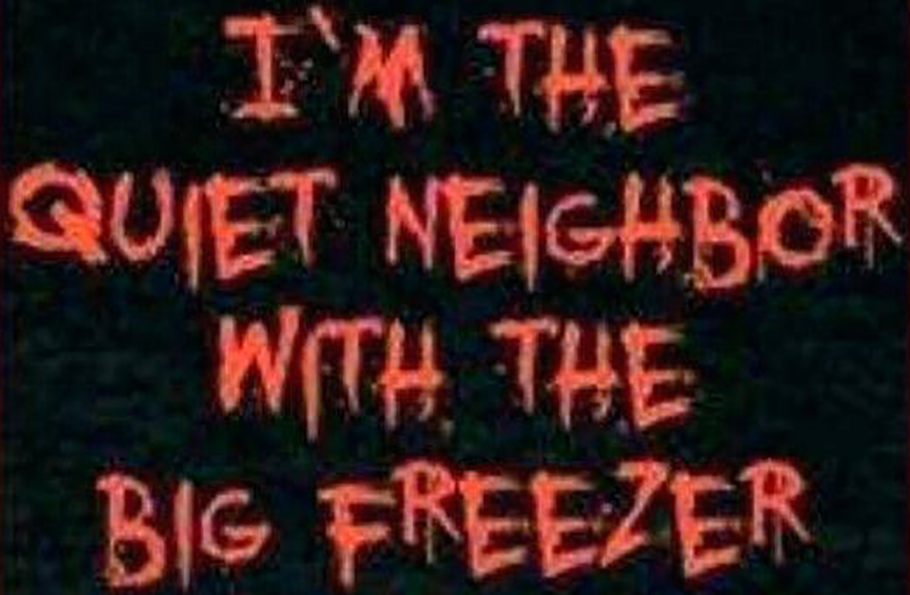 Big freezer sign