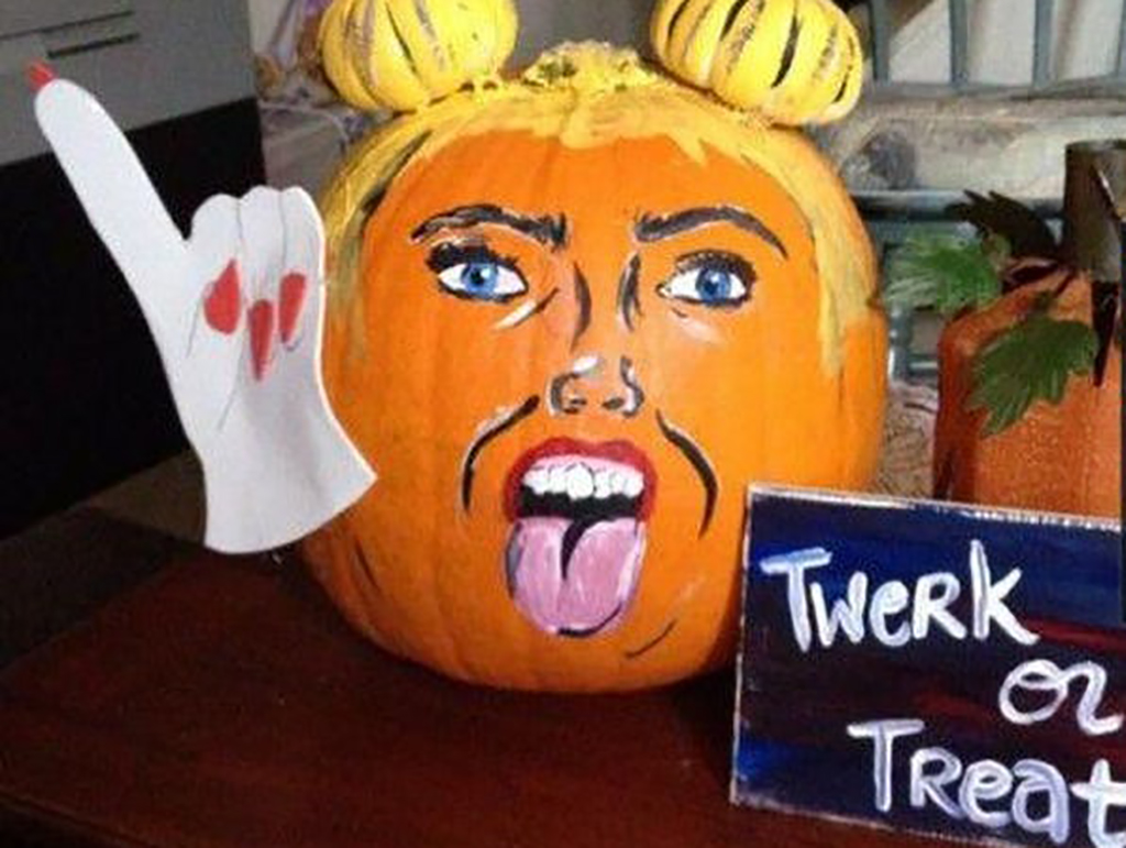 Miley Cyrus pumpkin