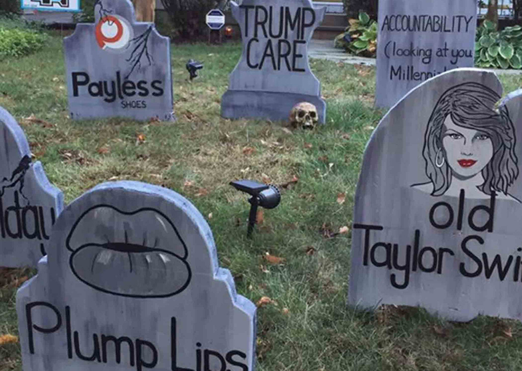 Fake tombstones
