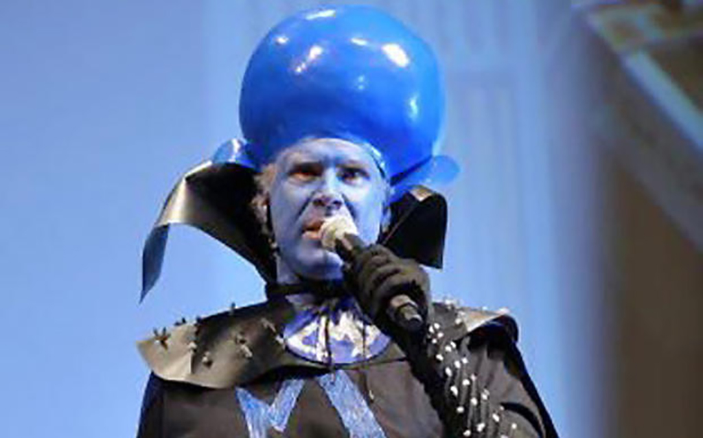 Will Farrell kind of dressed as Megamind