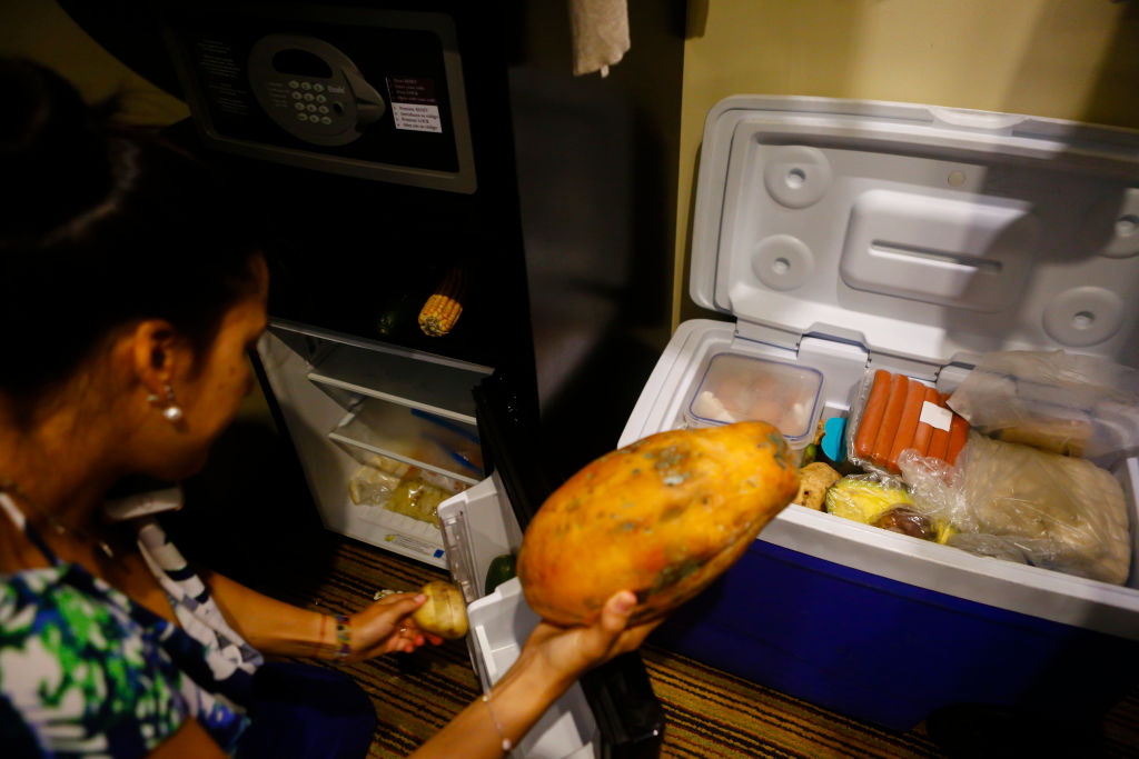 cooler with food