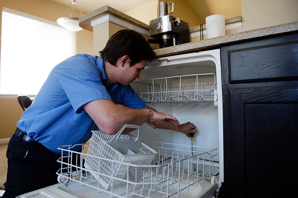fixing a dishwasher