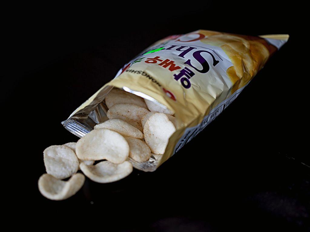 open bag of snacks