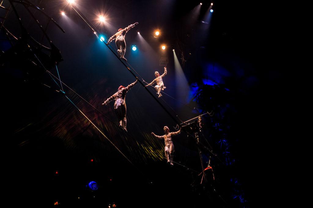 Artists perform during Cirque du Soleil presents