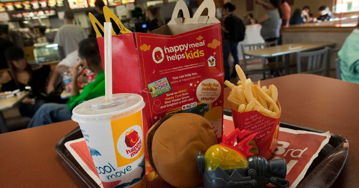 A photo illustration of a Happy Meal at McDonald's on November 3, 2010