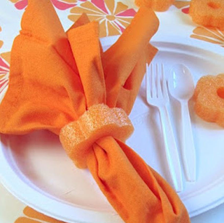 orange napkin holders