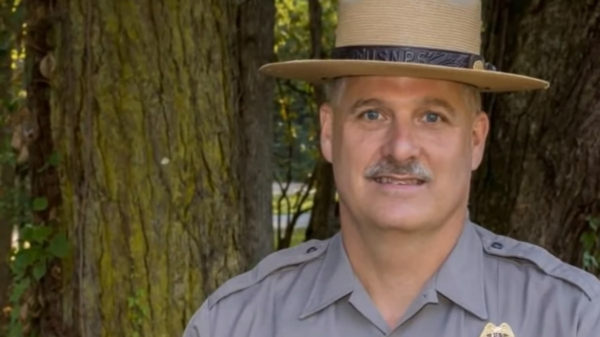 park ranger on camera