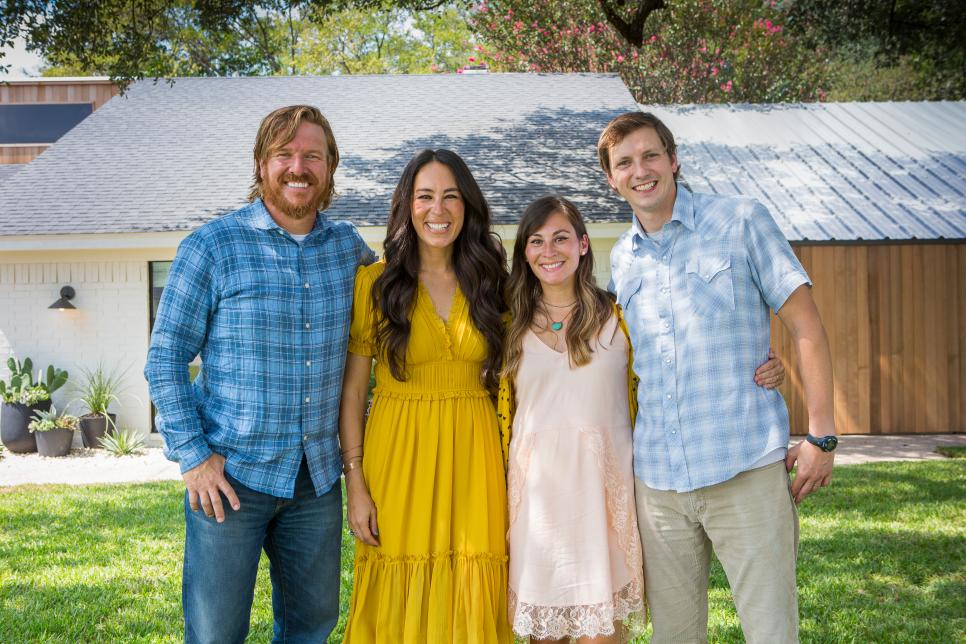 Joanna and Chip Gaines pose for a photo with Jo and David McCall.