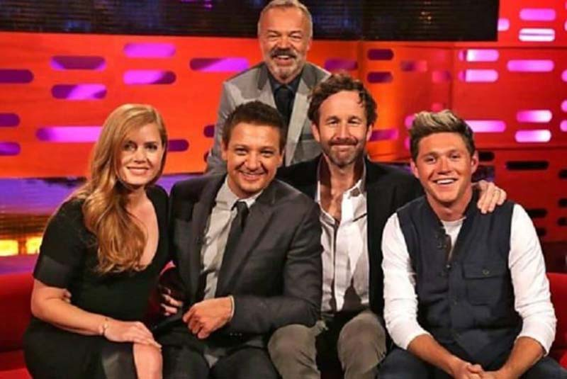 Celebrities pose for a photo on The Graham Norton Show.