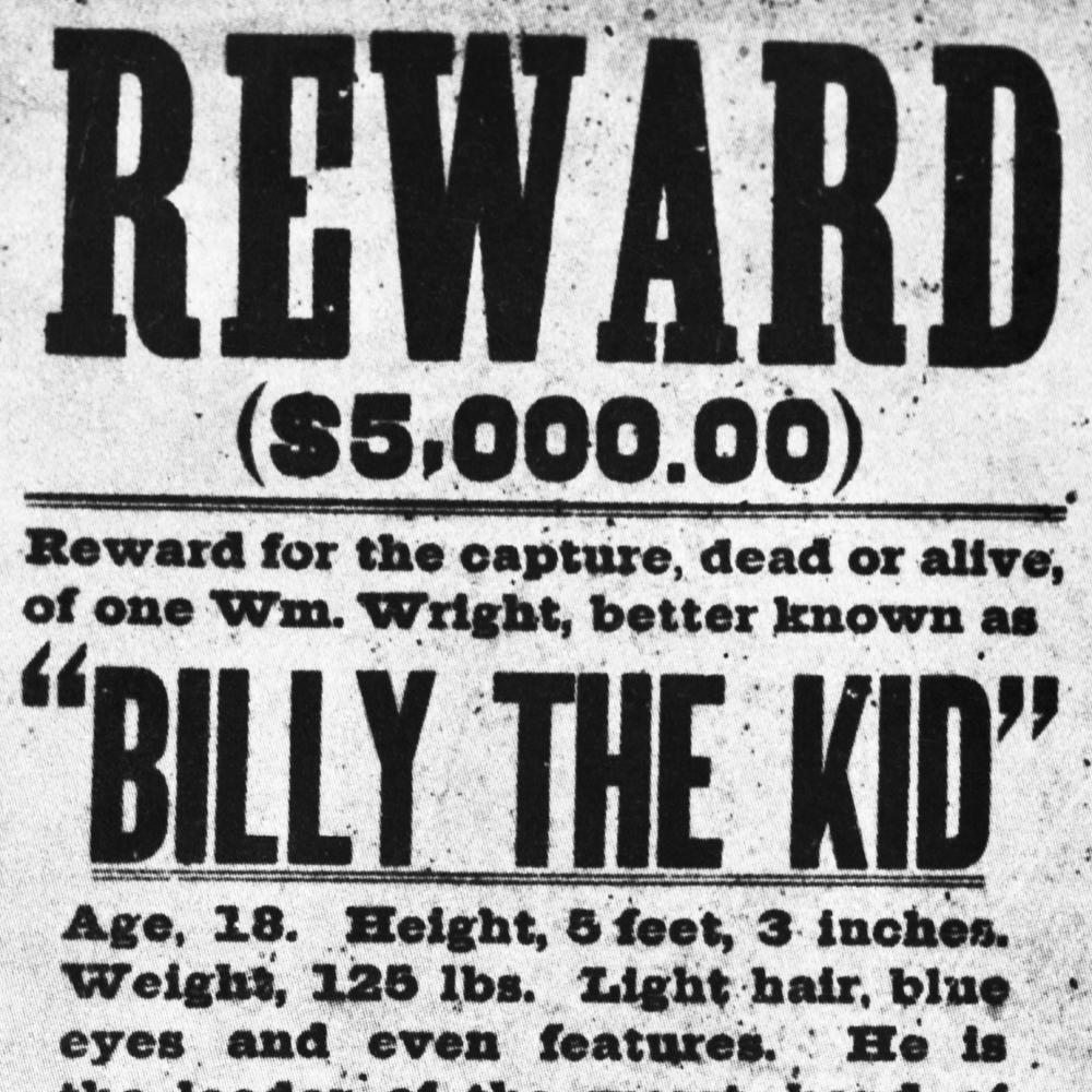 reward poster for billy