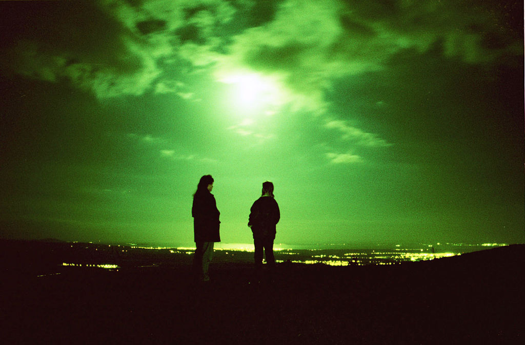 Green light in the sky