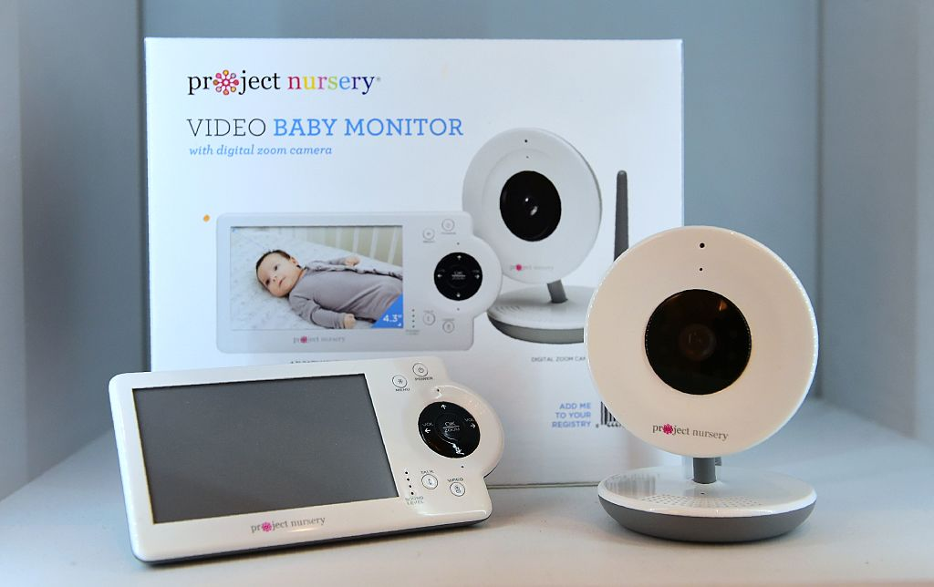 A baby monitor is pictured.